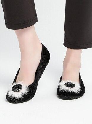 Pink - Black - Flat - Flat Shoes