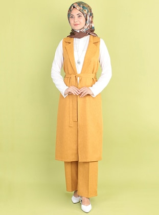 Mustard - Unlined -  - Suit