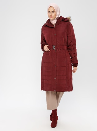 Maroon - Fully Lined - Polo neck - Puffer Jackets