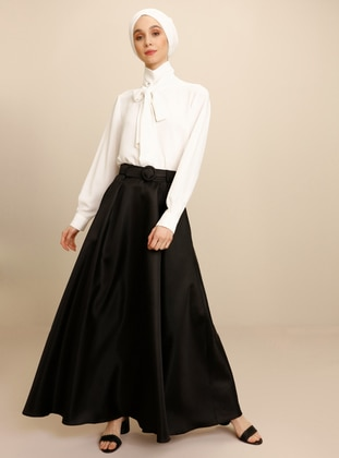 Unlined - Black - Evening Skirt - Mnatural