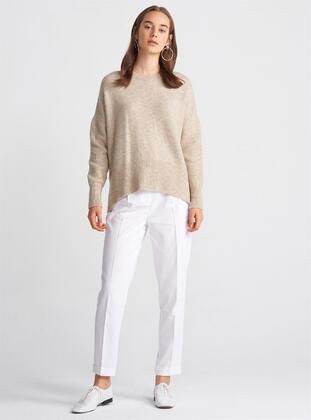 Beige - Knitwear