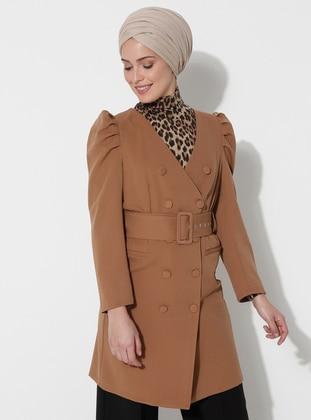 Mink - Unlined - V neck Collar - Jacket