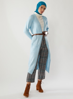 Blue - Unlined - Acrylic -  - Knit Cardigans