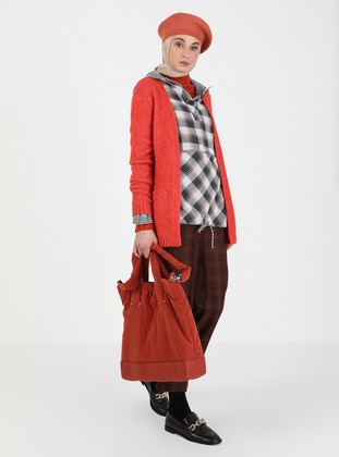 Coral - Acrylic - - Knit Cardigans