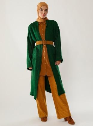 Green -  - Knit Cardigans