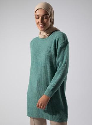 Mint - Polo neck - Acrylic -  - Tunic