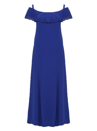 Saxe - Fully Lined - Boat neck - Modest Evening Dress