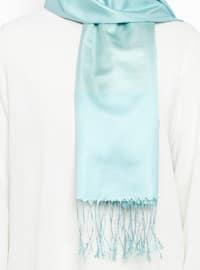 Mint - Plain - Fringe - %100 Silk - Shawl