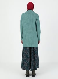 Mint - V neck Collar - Unlined - Knit Tunics