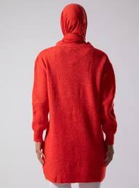 Coral - Crew neck - Acrylic - - Tunic