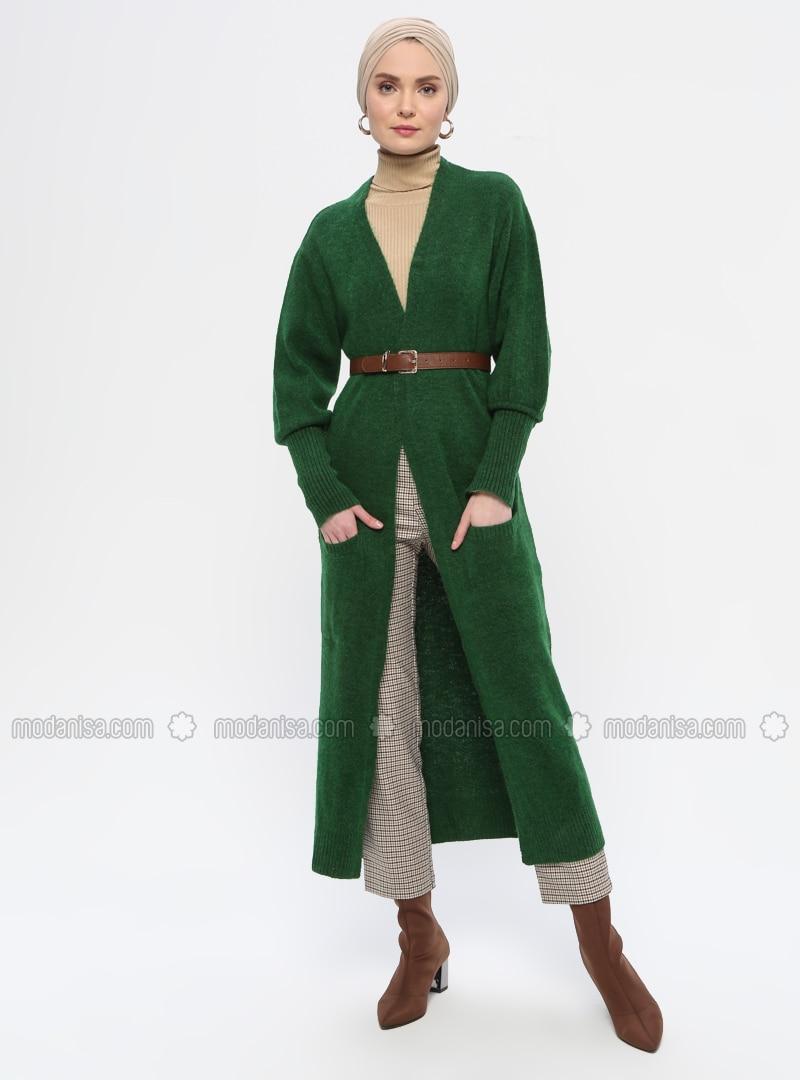 Green - Acrylic -  - Knit Cardigans