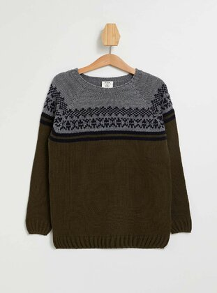 Khaki - Boys` Pullover