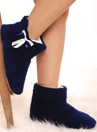 Navy Blue - House Booties - Lingabooms