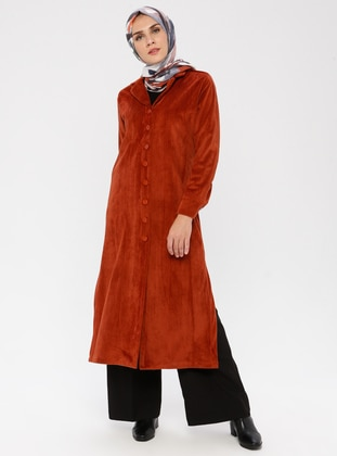 Terra Cotta - Unlined - Shawl Collar -  - Trench Coat