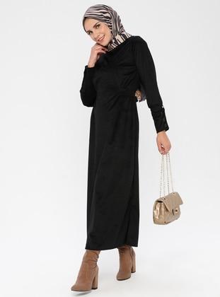 Black - Polo neck -  - Dress