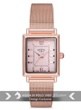 Gold - Rose - Watch - Aqua Di Polo 1987