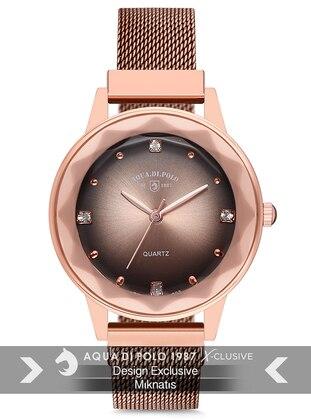 Gold - Rose - Watch - Aqua Di Polo 1987