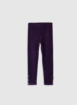 Purple - Girls` Leggings
