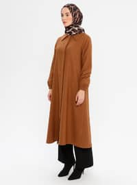 Camel - Fully Lined - Point Collar - Coat