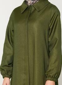 Khaki - Fully Lined - Point Collar - Topcoat