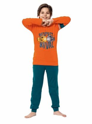 Crew neck -  - Unlined - Orange - Boys` Pyjamas