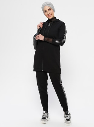 Black - - Tracksuit Set