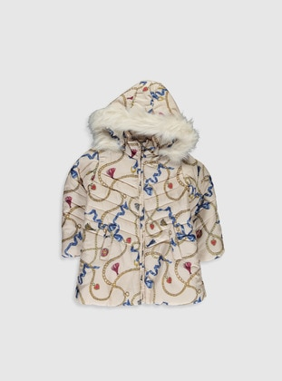 Ecru - Girls` Coat