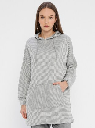 Gray - Sweat-shirt