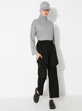 Black - Pants - Saye Modest