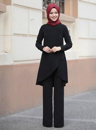 Black - Unlined - Suit - Al-Marah