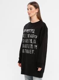 - Crew neck - Black - Sweat-shirt