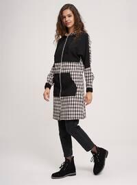 - Checkered - Black - Sweat-shirt