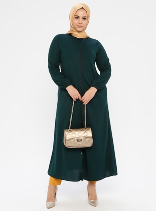 Emerald - Crew neck - Unlined - Plus Size Abaya