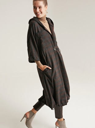 Brown - Unlined -  - Trench Coat