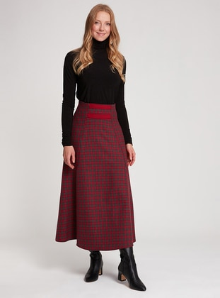 Red - Unlined -  - Skirt