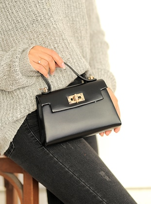 Black - Satchel - Clutch Bags / Handbags