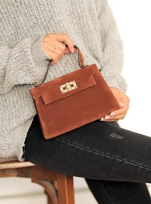 Tan - Satchel - Clutch Bags / Handbags