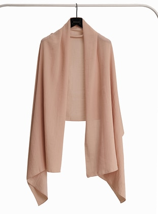 Beige - Plain - Shawl Wrap