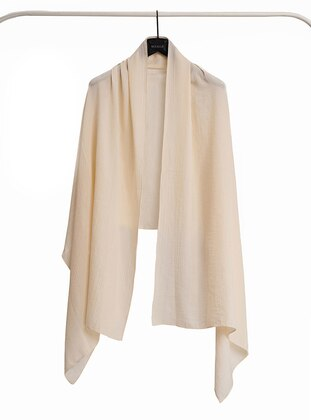 Cream - Plain - Shawl Wrap