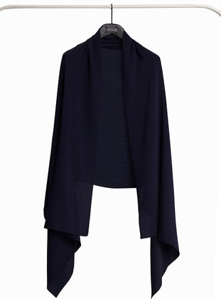 Navy Blue - Plain - Shawl Wrap