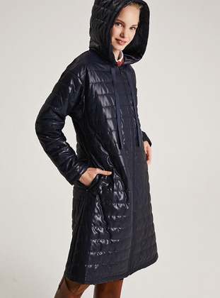 Navy Blue - Fully Lined - Puffer Jackets - Muni Muni
