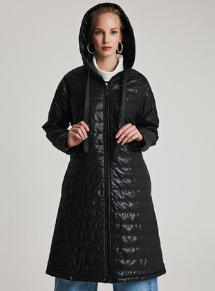 Black - Fully Lined - Puffer Jackets - Muni Muni