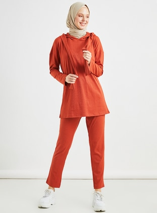Terra Cotta - Unlined - Viscose - Suit
