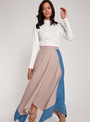 Gray - Indigo - Unlined - Skirt