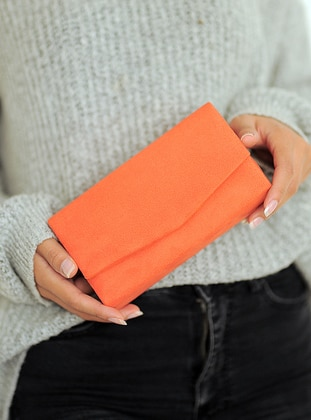 Orange - Clutch - Clutch Bags / Handbags