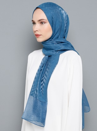 Indigo - Plain - Viscose - Shawl