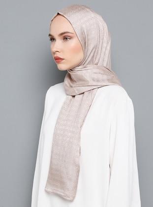 Cream - Rose - Plain - Shawl