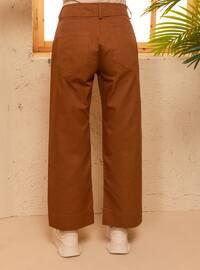 Brown - - Pants