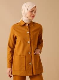 Mustard - Unlined - Point Collar - - Topcoat