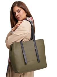 Khaki - Satchel - Shoulder Bags